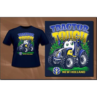 New Holland Tractor Tough T-shirt Size 7 Part Nh06-drk-7