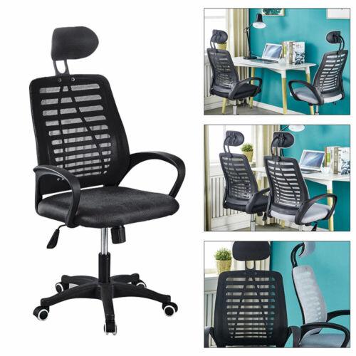 Soft Mesh Office Chair Ergonomic Computer Executive Desk Task Headrest Swivel US