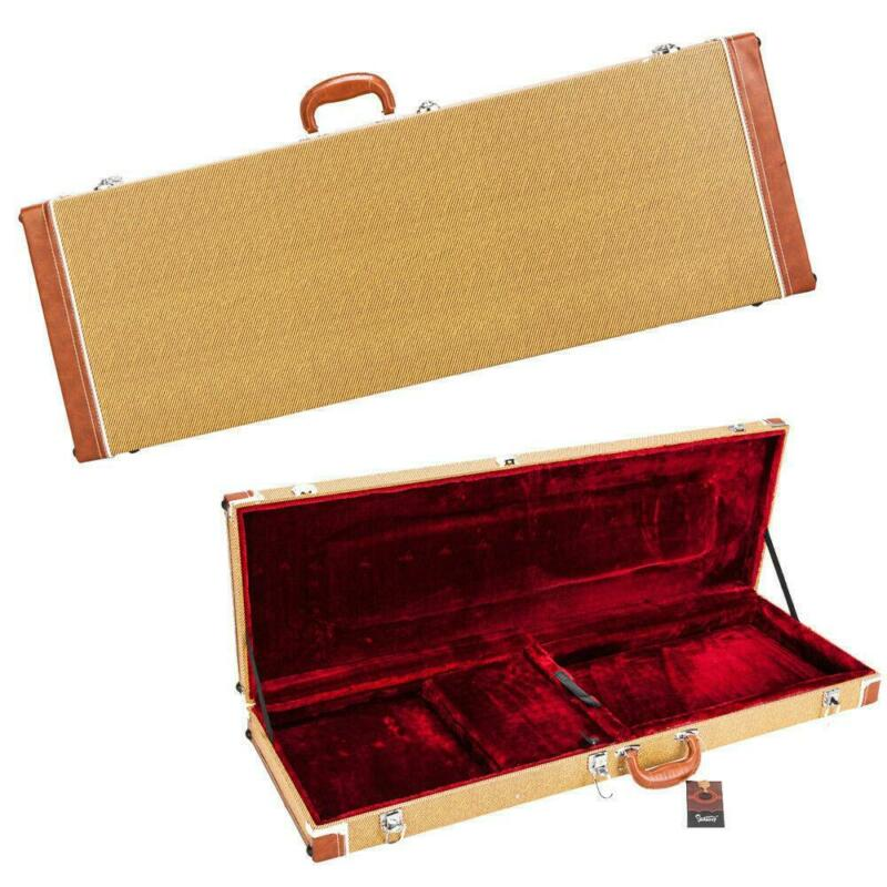 Glarry Electric Hard-Shell Guitar Rectangular Case Universal Yellow