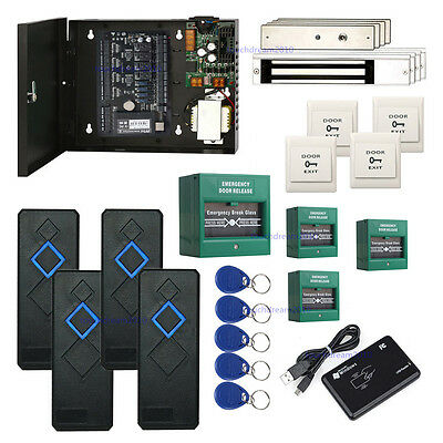 Zksoftware 4 Doors Control Access Systems Emergency Door Release Magnetic Lock