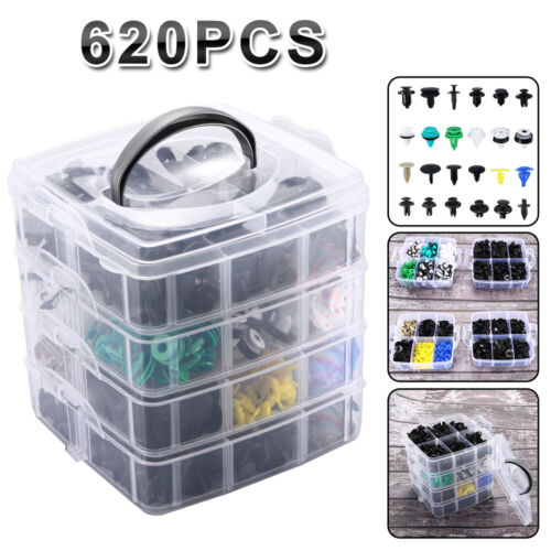 Car Parts - 24 Kinds 620 Pcs/Set Plastic Auto Fasteners Car Bumper Fender Repair Parts Clips