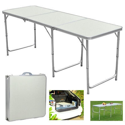 6ft Folding Picnic Table Long Dining Aluminum Outdoor Camping