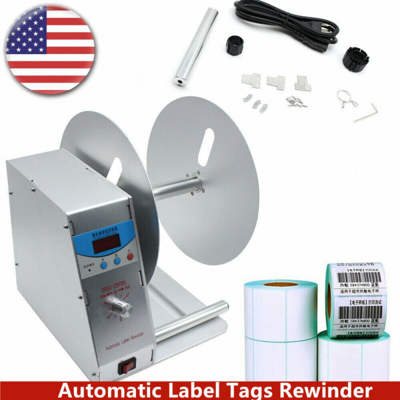 Electric Label Tags Rewinder Universal Label Barcode Printer Rewinding Machine
