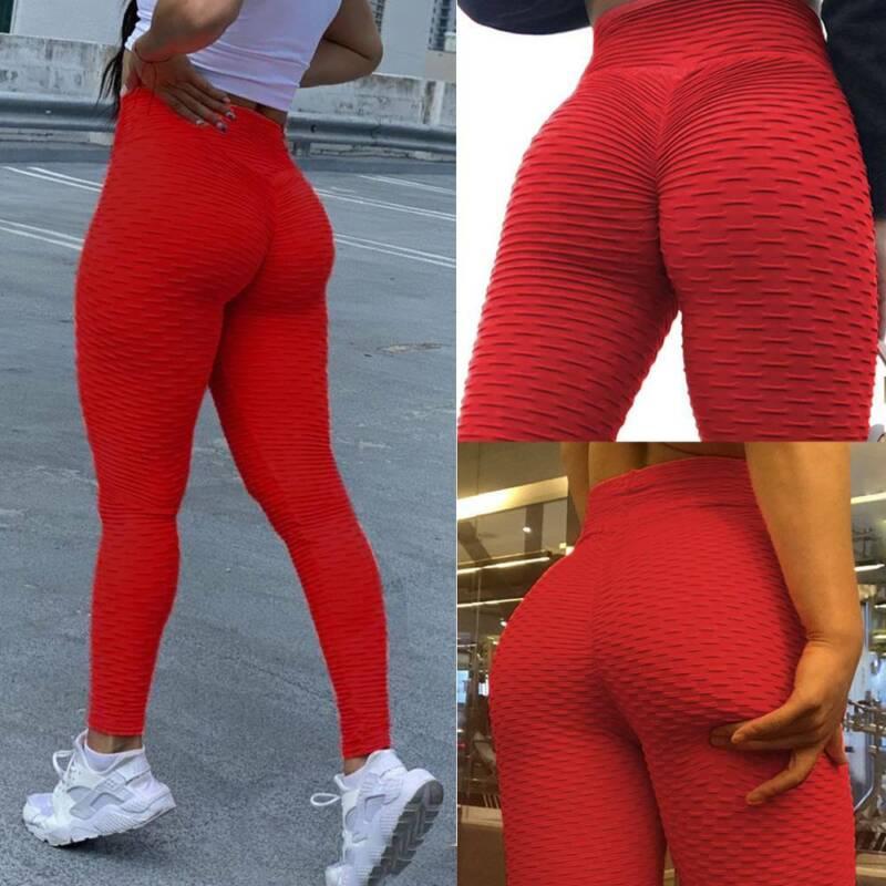Damen Push Up Leggings Yoga Hose Anti Cellulite H¨¹fte Sporthose Gym Fitnesshose