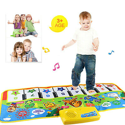 Unisex Play Keyboard Musical Music Singing Gym Carpet Mat Best Kids Baby (Best Baby Gym Mat)
