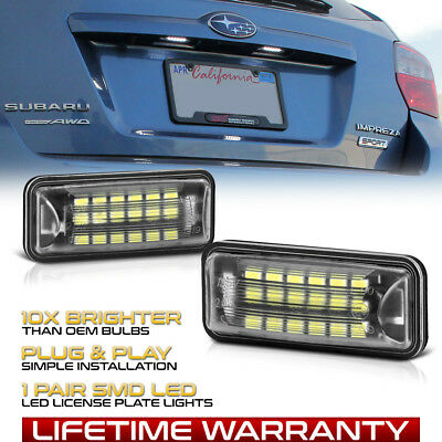 [SUPER BRIGHT] LED License Plate Light Lamp For 2008-2019 Subaru Impreza WRX STI