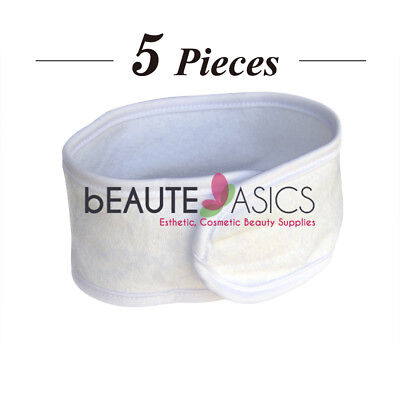 5 Pcs Stretchable Terry Spa Headband Facial Hair Bands - #AH1006Wx1