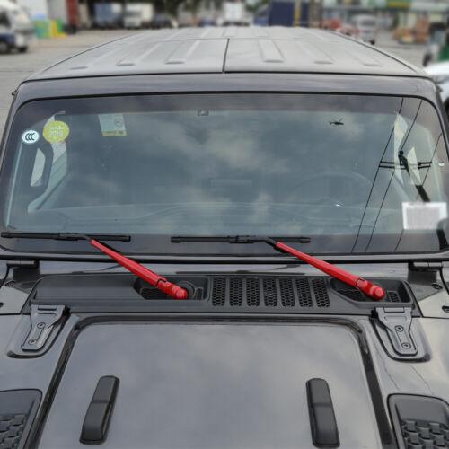 Car Window Windshield Wiper Blade Trim Cover For 2007-2018 Jeep Wrangler JK Red