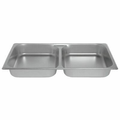 Hubert Steam Table Pan Full Size Divided24 Gauge Stainless Steel - 2 12 D