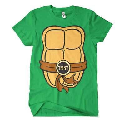 Offiziell Tmnt Vorne Und Rückenaufdruck Kostüm - T Shirt Ninja Kostüm