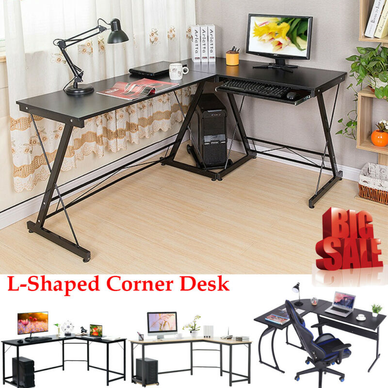 L-Shaped Corner Desk Computer Gaming Laptop Table Workstatio