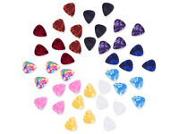 Mixed Color 0.46mm Celluloid Guitar Picks Plectrums with Metal Pocket Box, 40 Pack