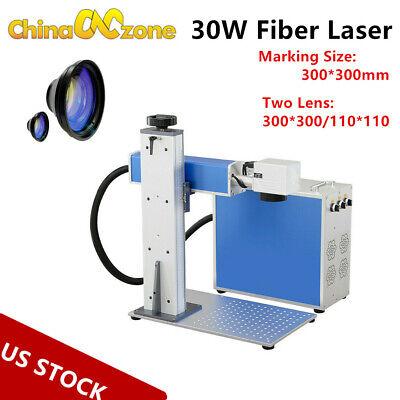 30w Fiber Laser Metal Marking Machine Engraver Two Lens High Precision Portable