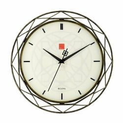Bulova Clocks Prism 14 Inch Frank Lloyd Wright Inspired Wall Clock (Open Box)
