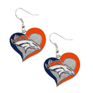 Denver Broncos Earrings Football Nfl Ebay