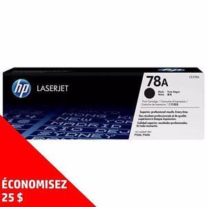 Cartouches de toner d'origine HP78A – Achetez directement de HP et économisez! Achetez-en deux, obtenez 25$ de rabais