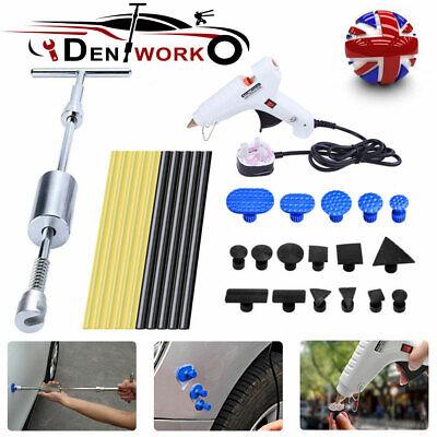 Car Dent Removal PDR Dent Puller Tools 2 in 1 Slide Hammer W/ Pulling Tabs Kit