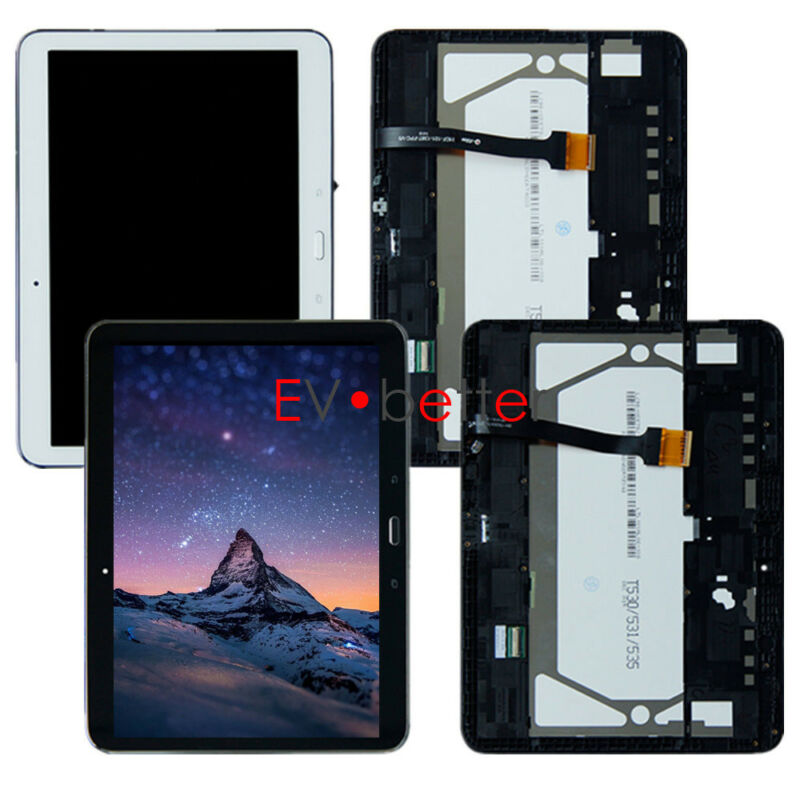 FR Samsung Galaxy Tab 4 10.1 SM-T530NU T530 Full Touch LCD Screen Display ±Frame