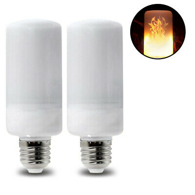2 5W E26 LED Fire Flame Flicker Light Bulbs for Home, Camping, - Halloween Flickering Light Bulbs