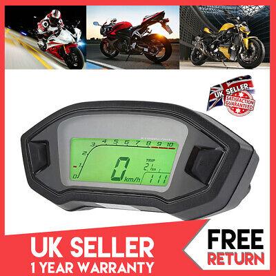 Motorcycle Motorbike Digital LCD Odometer Speedometer Tachometer Universal