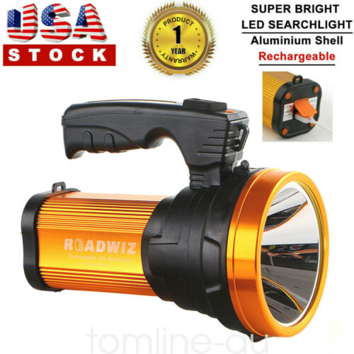 Aluminum Portable Searchlight Handheld Spotlight LED Recharg