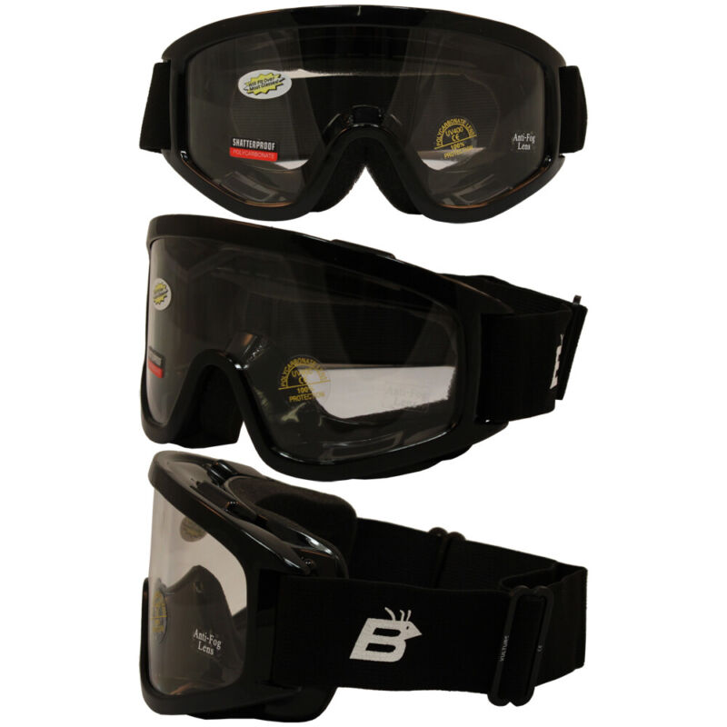 Motorcycle Goggles Clear Lens Fit Over Fitover Prescription Glasses Burning Man