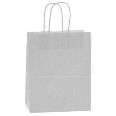 White Kraft Paper 8 X 4 X 10 Shopping Bag-250cs