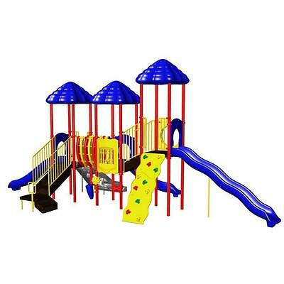 Multi-Colored Powder Coated Rainbow Lake Commercial Playground Equipment - Rainbow Playground