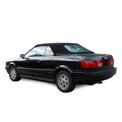Audi Cabrio 1992-98 Convertible Soft Top, w/ Plastic Window, Twillfast, Black