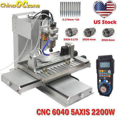 Cnc 6040 5axis 2200w Engraving Machine Metal Milling Desktop Diy Router Machine