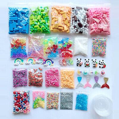 46PCS DIY Slime Making Kit & Supplies Gifts for Kids Slime Beads Mermaid Tail - Mermaid Gifts For Kids