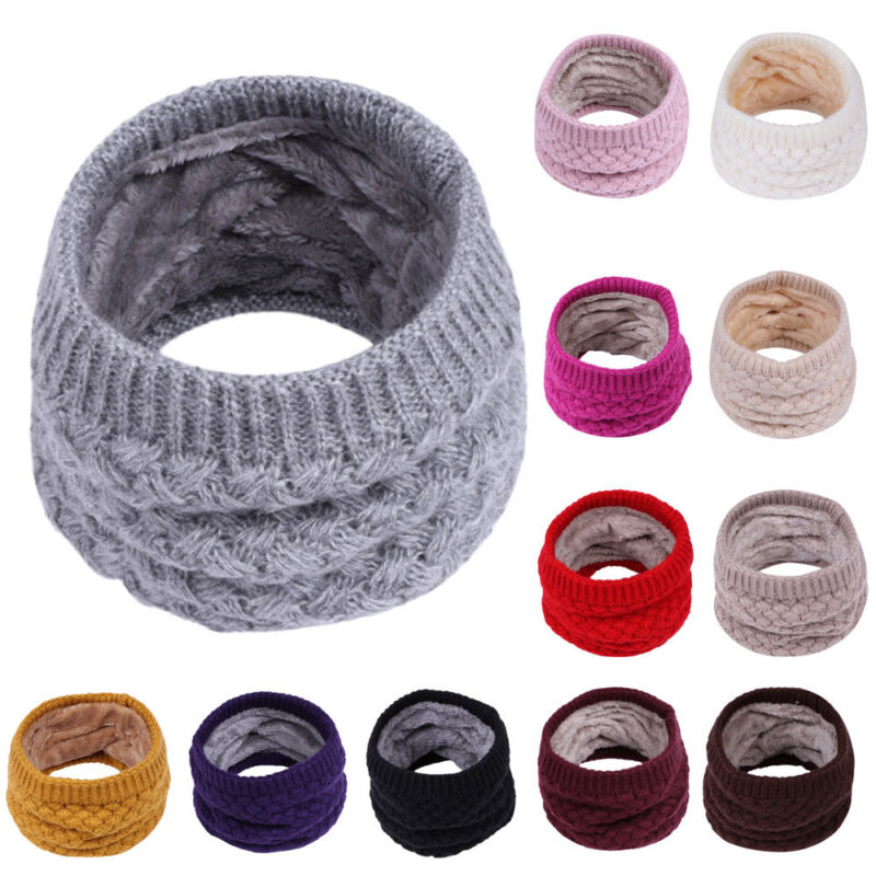 Kid Baby Boys Girls Cotton Scarf Winter Warm Knitted Collar Neck Wrap Scarves KP