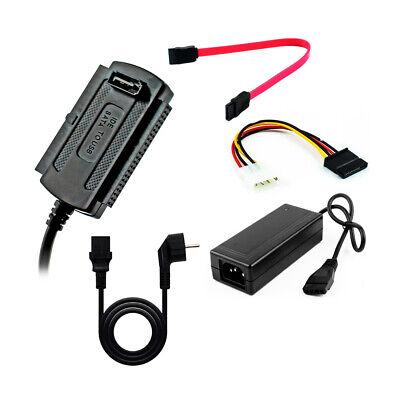 Convertidor adaptador alimentación lector de disco duro IDE SATA a USB 2.0...