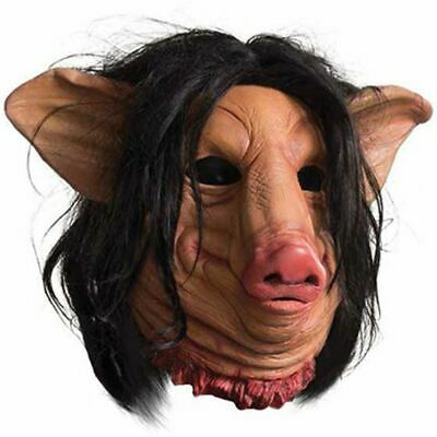 Saw Licensed Pig Face Mask Full Over the head](Pig Saw Mask)