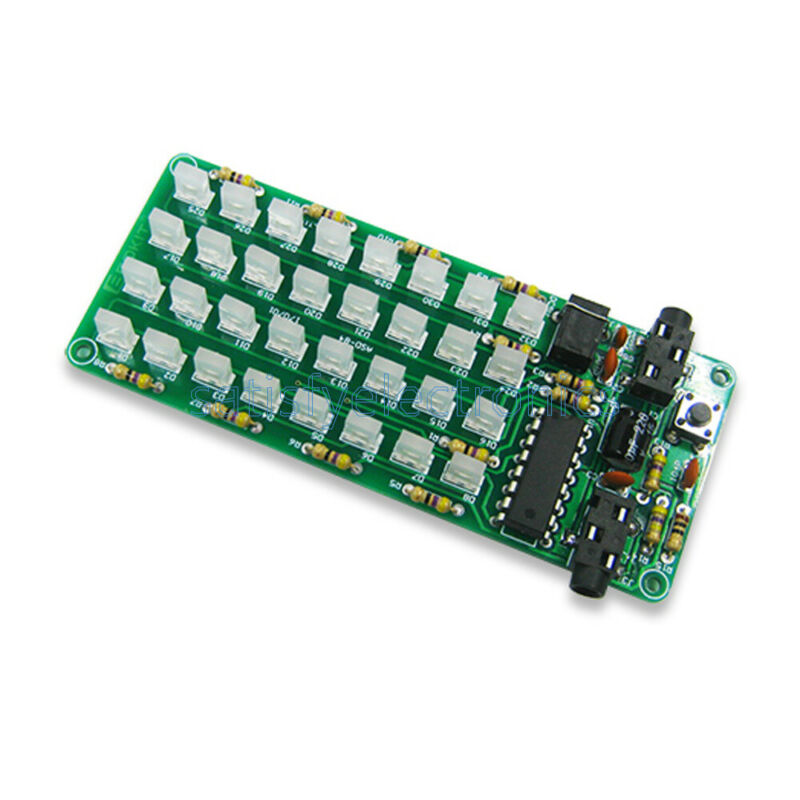 DIY Level Indicator Audio Spectrum 8x4 Voice Spectrum Lights Red+Blue Display