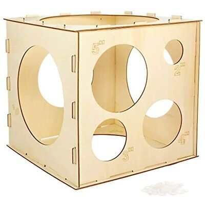 Auihiay 9 Holes Collapsible Wood Balloon Sizer Box Cube, Measurement Tool Health