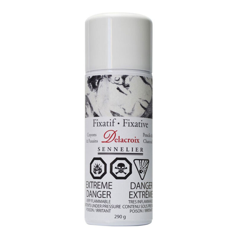 Sennelier Delacroix Charcoal Fixative 400ml Aerosol Spray