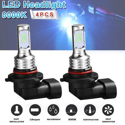 9005+9006 Combo LED Headlight Bulb High&Low Beam Performance Ice Blue HB4 HB3