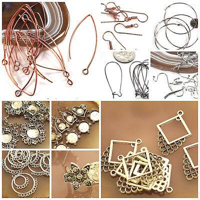 (Earring Base Findings Ear wire Silver Copper Gold Diamond Heart Basketball Brass)