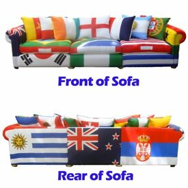 World Cup flags Sofa