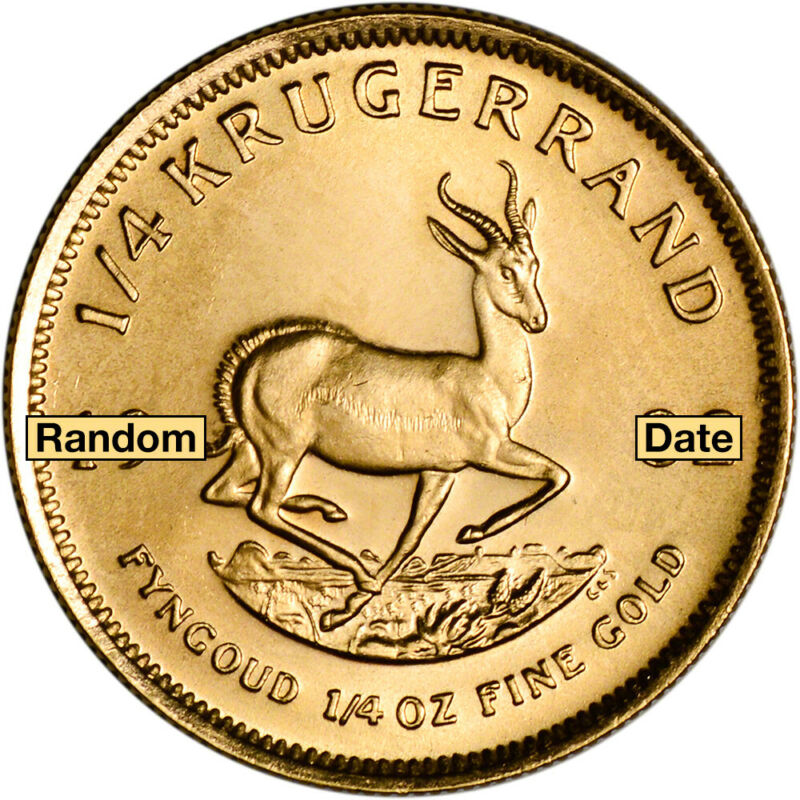 South Africa Gold (1/4 oz) Krugerrand - BU - Random Date