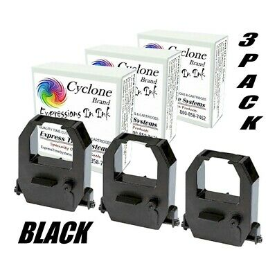 3-pack Amano Pix10 Pix15 Pix21 Ce-315151 Compatible Ribbon Cartridges Black