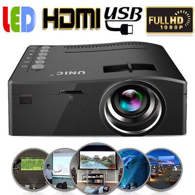 MINI PROIETTORE LED PORTATILE USB VGA HDMI AV 1080P VIDEOPROIETTORE HOME CINEMA