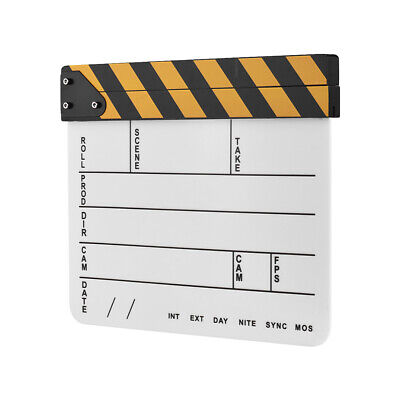 Movie Film Clapper-Board Dry Erase Clapboard Cut Action Scene Film Clapper-Board (Action Clapboard)