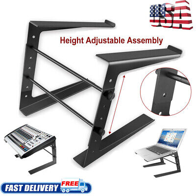 Folding DJ Laptop Stand Computer Table Top PC Rack Clamp Mount Holder PA Gear BT