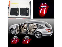 2 x LIPS DOOR LED LOGO COURTESY LIGHT LASER GHOST PROJECTOR SHADOW LITE RED HOT*