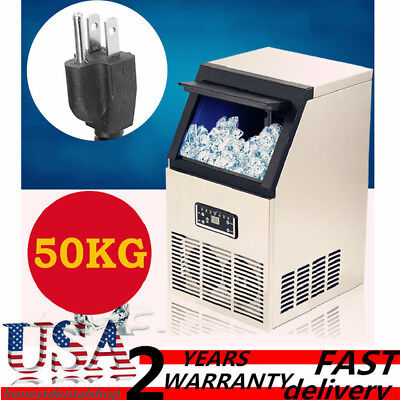 Us 110lb Built-in Commercial Ice Maker Undercounter Freestand Ice Cube Machine