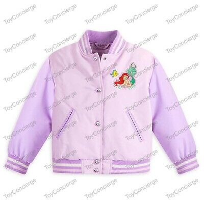 DISNEY Store VARSITY JACKET for Girls 2018 ARIEL LITTLE MERMAID Choose Size NWT - Varsity Jackets For Little Girls