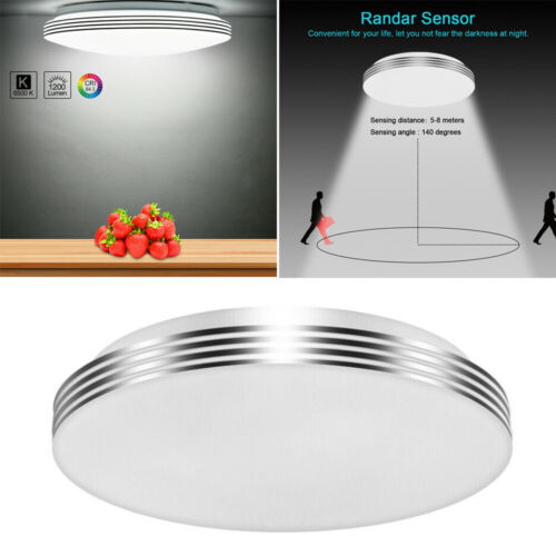 18W LED Motion Sensor Ceiling Lamp Down Light Home Fixture U