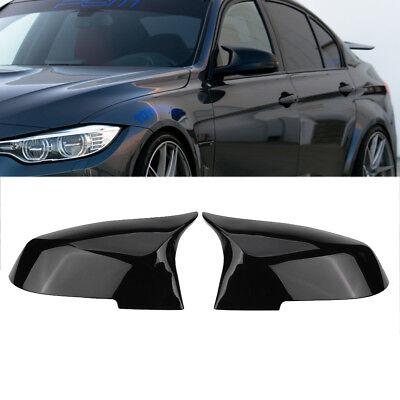 Gloss Black Mirror Cover Rearview For BMW F20 F21 F87 M2 F23 F30 F36 X1 E84 M3